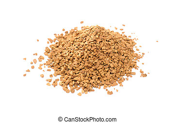 Pile of Instant Coffee Isolated on White Background
