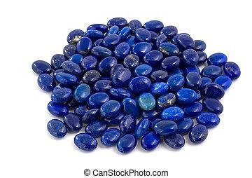 Pile of lapis lazuli beads.