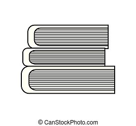 pile of library books isolated icon