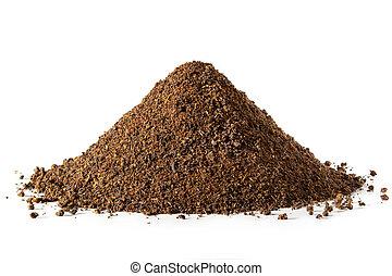 Pile of loose Tea Leaves - Close up of a pile of loose tea ...