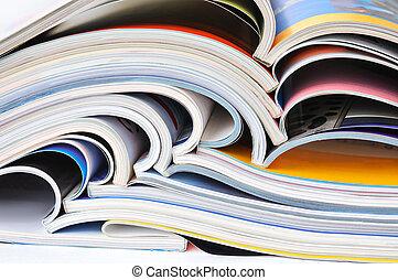 Pile of magazines - Pile of colorful magazines
