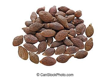 Pile of Malva Nuts isolated on white background