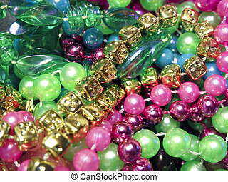Pile of Mardi Gras Beads