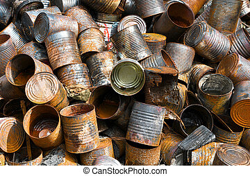 Pile of Metal Cans