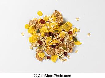 mixed breakfast cereals