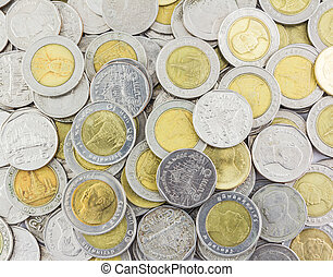 pile of money coins