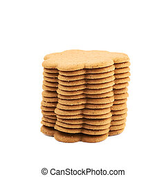 Pile of multiple gingerbread cookies