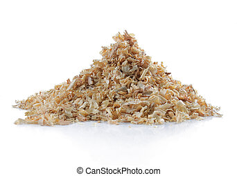 pile of natural sawdust textured background