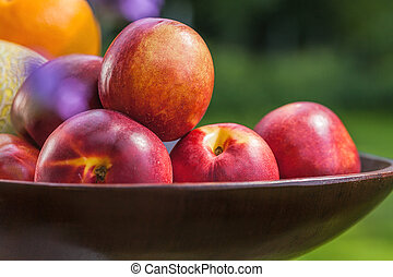 Pile of nectarines