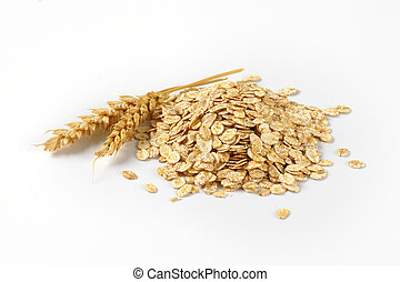 pile of oat flakes