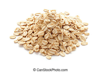 oatmeal - pile of oatmeal isolated on white background