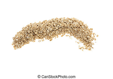 pile of oatmeal on a white background