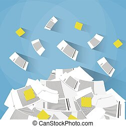pile of office papers