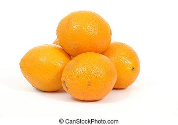 Pile of oranges fruits
