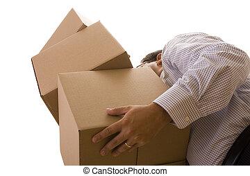 pile of package