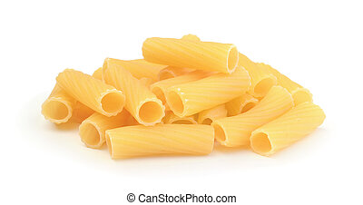 Pile of pasta isolated on white background