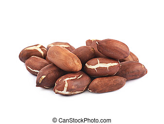 Pile of peanuts isolated
