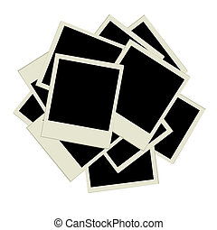 Pile of photos, insert your pictures into frames