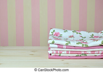 Pile of Pink Kitchen Towels