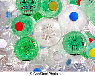Plastic Beverage Bottles - Pile of Plastic Beverage Bottles