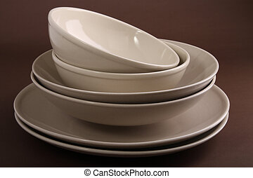 plate and bowl