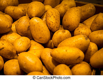 pile of potatoes at a market