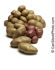 Pile of Potatoes Isolated on White