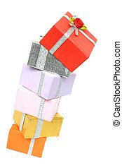 Pile of Presents - Tall pile of wrapped presents