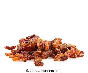 Pile Of Raisins Isolated On White Background
