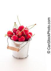 Pile of red cherries