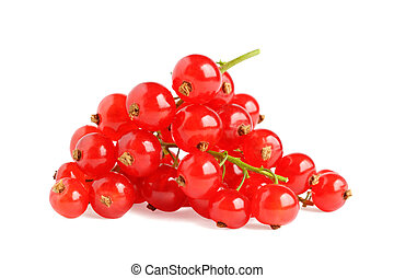 Pile of red currant isolated on white background