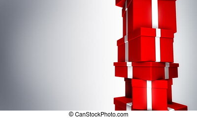 Pile of Red Gifts (Loop)