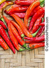 pile of red thai goat pepper