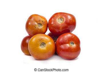 Pile of red tomatoes