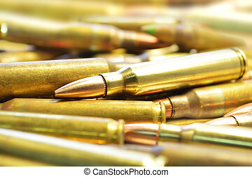 pile of rifle bullets