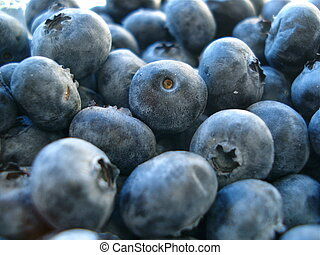 Pile of Ripe Blueberries