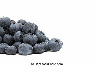 Pile of ripe blueberry (isolated)