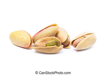 pile of roasted pistachios