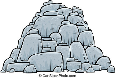 Pile of Rocks - A pile of grey, stone boulders.