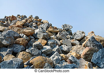 Pile of rocks. for construction.