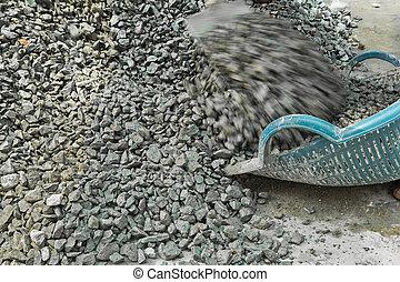 Pile of rocks.