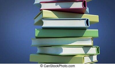 Pile of rotating books