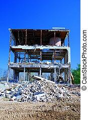 Pile of rubble - Demolition of building