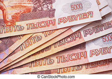 Pile of russian rubles