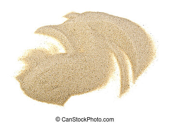 Pile of sand isolated on a white background