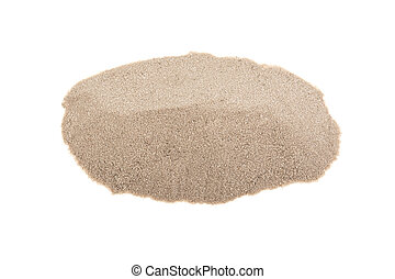 pile of sand on a white background, isolated