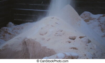 Pile of sawdust at saw-mill