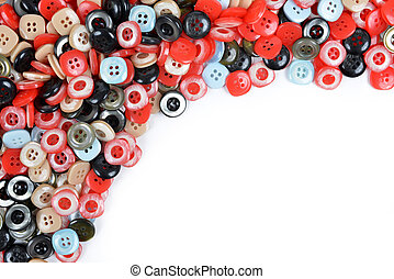 Pile of sewing buttons.