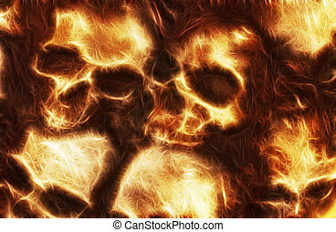 Pile of Skulls - Abstract skull image