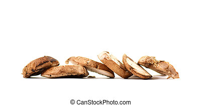 Pile of sliced mushrooms